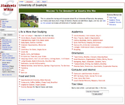 University-Wiki template example