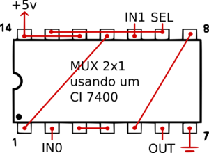 NAND-MUX2x1