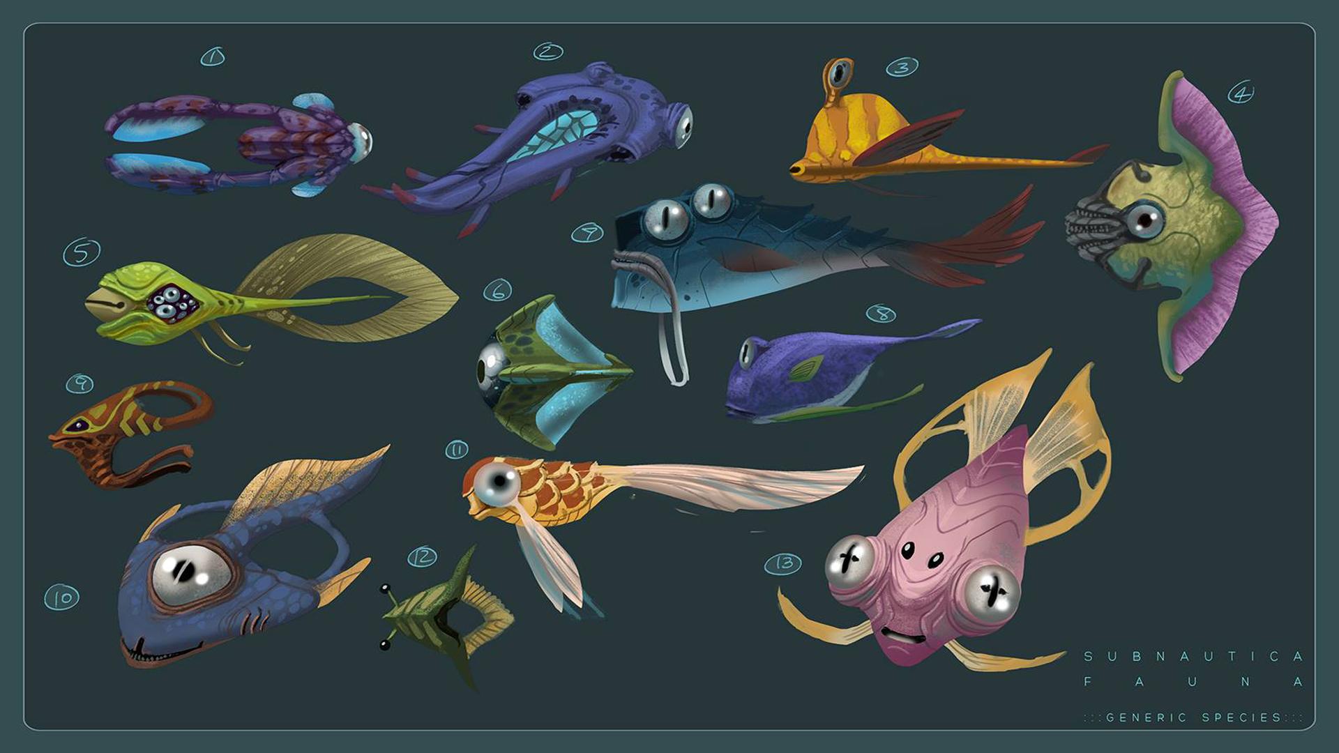 Image - Fauna Concept Art.jpg | Subnautica Wiki | Fandom powered ...