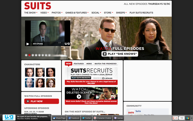 File:Suits official website screenshot 2012-7-20.png