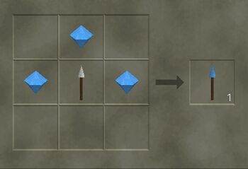 Craft a diamond spear