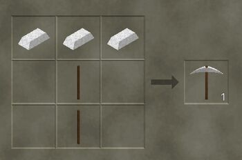 how to make a pickaxe in survival craft