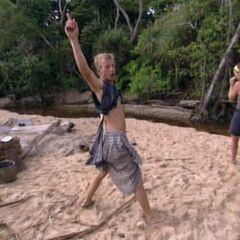 Greg dancing at the Pagong camp.