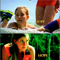 Hope's shots in the opening.