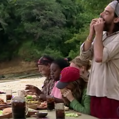 The tribe eating at the <a href=