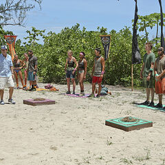 The castaways during the Reward Challenge.