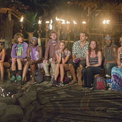 Bikal tribe at their first Tribal Council.
