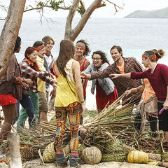 Vanua with their supplies.