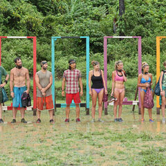 The castways before the first individual Immunity Challenge.