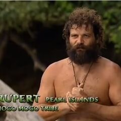 Rupert making a confessional about winning the challenge.