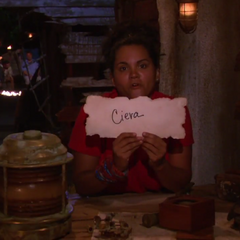 Sandra votes against Ciera.