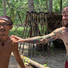 Tai and Jason at camp.