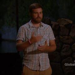 Caleb making his Jury speech.