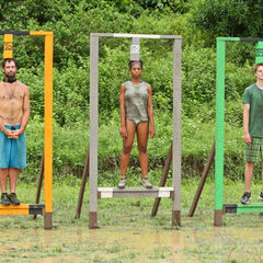 Tasha competing in the first individual Immunity Challenge.