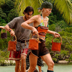 Sally competes for immunity.