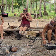 Julia is eager to kill the chicken after Tai's departure.
