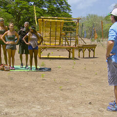 The final six at the Reward Challenge.