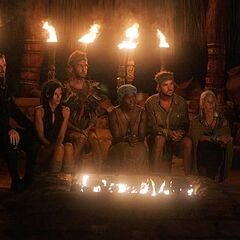 The final six at Tribal Council.