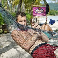 Stephen laying in a hammock.