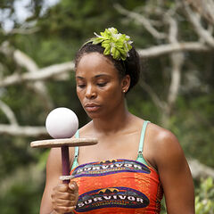 Tasha at the first individual Immunity Challenge in Cambodia.