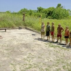 Dangrayne before the final seven Immunity Challenge, <i><a href=