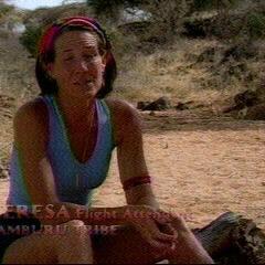 Teresa making a <a href=