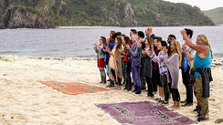 Contestants at the marooning