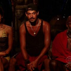 Natalie, Phillip, and Rob at Final Tribal Council.