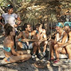 Josh at Huyopa beach with several tribemates.