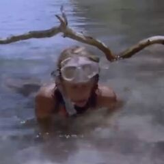 Kathy fishing.