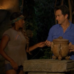 Natalie plays the Hidden Immunity Idol on Jaclyn.
