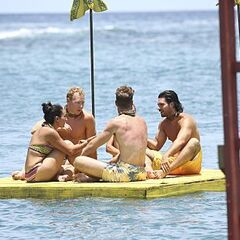 Masaya discussing things at the episode 2 Immunity Challenge.
