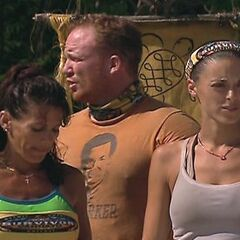 Lisa at the first Immunity Challenge after the tribe swap, unaware of <a href=