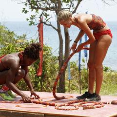 Cydney and Alecia competing in <i><a href=
