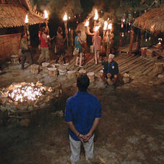 Dara at its first Tribal Council.