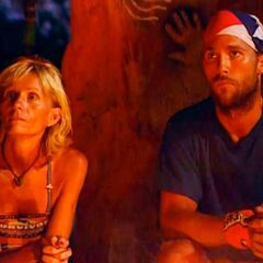 Colby and Tina at the Final Tribal Council.