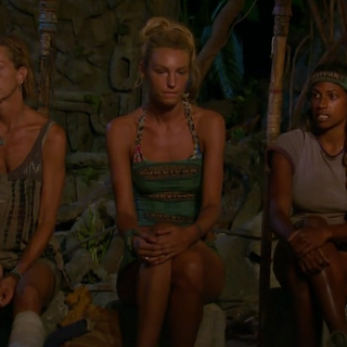 Missy, Jaclyn and Natalie at the Final Tribal Council.