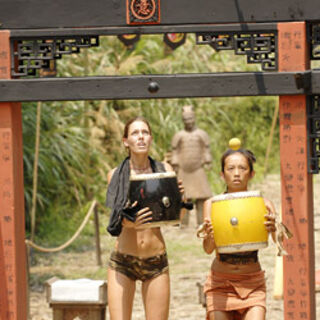 Peigh Gee and Amanda during the challenge.