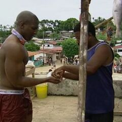 Osten bargaining at the Panamanian village.