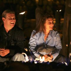 Chris and Twila wait to see on who won <i>Survivor: Vanuatu</i>.