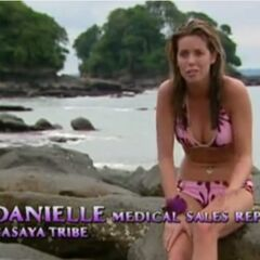 Danielle making a confessional.
