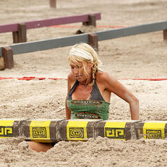 Debbie at her last Immunity Challenge, <a href=
