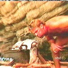Brian making fire at the Chuay Gahn camp.
