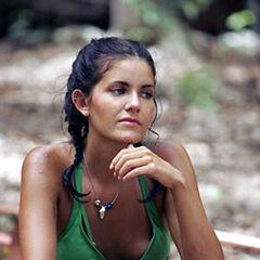 Brianna at the Yaxhá camp.