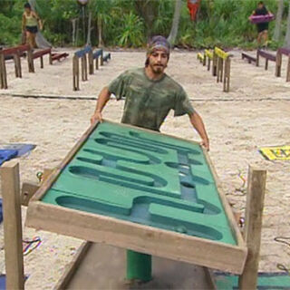 Ozzy at the Immunity Challenge.