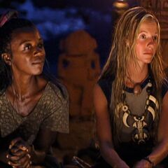 Vecepia at the Final Tribal Council with Neleh.