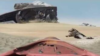 STAR WARS THE FORCE AWAKENS - Virtual Jakku Speeder Tour
