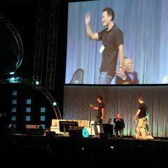 Doug Chiang and Iain McCaig arrive onstage
