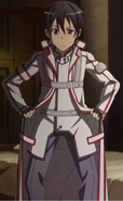 Kirito in K.O.B uniform
