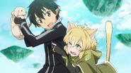 LS Kirito saving Argo from a dog